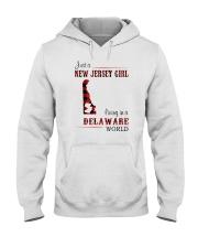 JERSEY GIRL LIVING IN DELAWARE WORLD Hooded Sweatshirt thumbnail