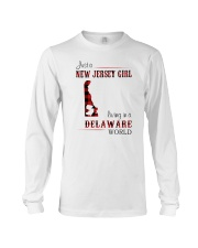 JERSEY GIRL LIVING IN DELAWARE WORLD Long Sleeve Tee thumbnail