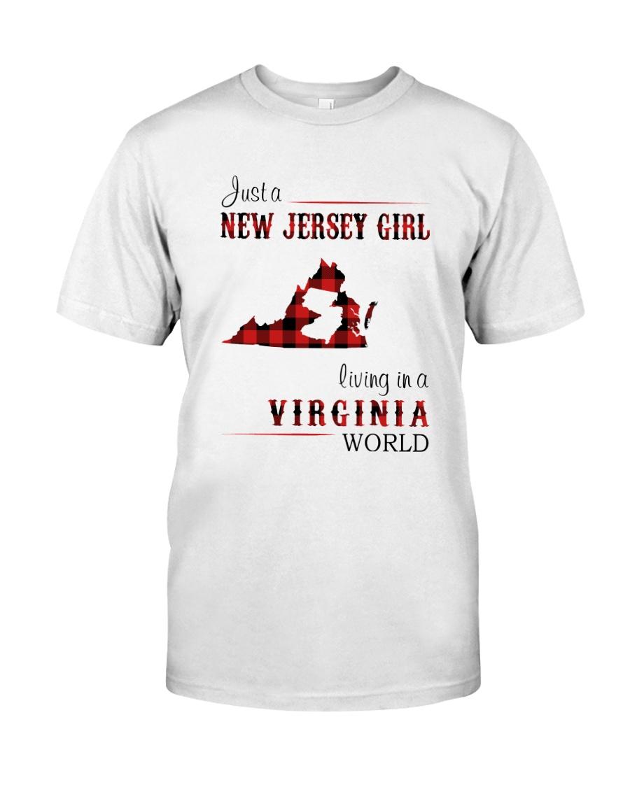 JERSEY GIRL LIVING IN VIRGINIA WORLD Classic T-Shirt
