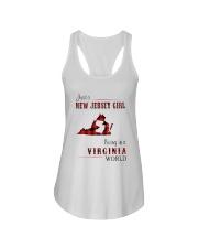 JERSEY GIRL LIVING IN VIRGINIA WORLD Ladies Flowy Tank thumbnail