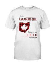 CANADIAN GIRL LIVING IN OHIO WORLD Classic T-Shirt front