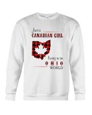 CANADIAN GIRL LIVING IN OHIO WORLD Crewneck Sweatshirt thumbnail