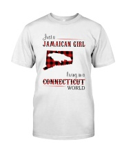 JAMAICAN GIRL LIVING IN CONNECTICUT WORLD Classic T-Shirt front
