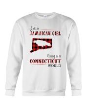 JAMAICAN GIRL LIVING IN CONNECTICUT WORLD Crewneck Sweatshirt thumbnail