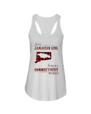 JAMAICAN GIRL LIVING IN CONNECTICUT WORLD Ladies Flowy Tank thumbnail