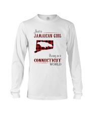 JAMAICAN GIRL LIVING IN CONNECTICUT WORLD Long Sleeve Tee thumbnail