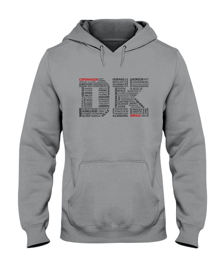 DENMARK CITIES Hooded Sweatshirt