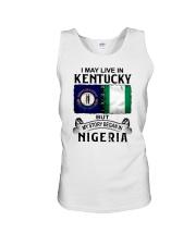 LIVE IN KENTUCKY BEGAN IN NIGERIA Unisex Tank thumbnail