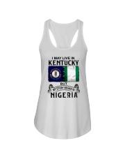 LIVE IN KENTUCKY BEGAN IN NIGERIA Ladies Flowy Tank thumbnail