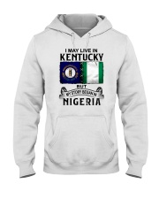LIVE IN KENTUCKY BEGAN IN NIGERIA Hooded Sweatshirt thumbnail