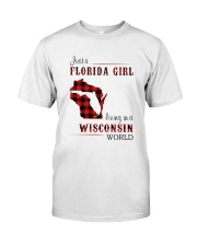 FLORIDA GIRL LIVING IN WISCONSIN WORLD Classic T-Shirt tile