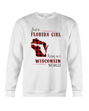 FLORIDA GIRL LIVING IN WISCONSIN WORLD Crewneck Sweatshirt tile