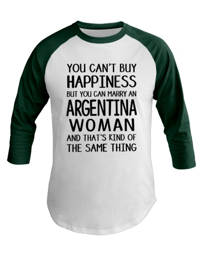 YOU CAN MARRY AN ARGENTINA WOMAN BASEBALL TEE