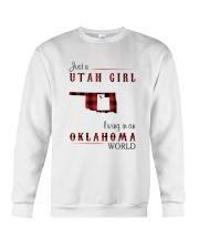 UTAH GIRL LIVING IN OKLAHOMA WORLD Crewneck Sweatshirt thumbnail