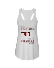 UTAH GIRL LIVING IN OKLAHOMA WORLD Ladies Flowy Tank thumbnail