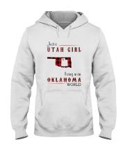 UTAH GIRL LIVING IN OKLAHOMA WORLD Hooded Sweatshirt thumbnail