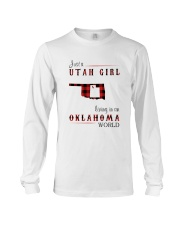 UTAH GIRL LIVING IN OKLAHOMA WORLD Long Sleeve Tee thumbnail
