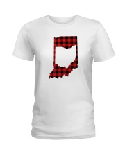 OHIO IN INDIANA WORLD Ladies T-Shirt thumbnail