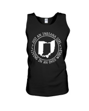 INDIANA GIRL LIVING IN OHIO WORLD Unisex Tank thumbnail