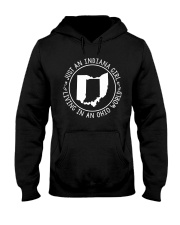 INDIANA GIRL LIVING IN OHIO WORLD Hooded Sweatshirt front