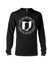 INDIANA GIRL LIVING IN OHIO WORLD Long Sleeve Tee thumbnail