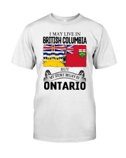 LIVE IN BRITISH COLUMBIA BEGAN IN ONTARIO ROOT Classic T-Shirt tile