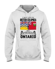 LIVE IN BRITISH COLUMBIA BEGAN IN ONTARIO ROOT Hooded Sweatshirt thumbnail