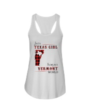 TEXAS GIRL LIVING IN VERMONT WORLD Ladies Flowy Tank thumbnail