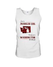 MICHIGAN GIRL LIVING IN WASHINGTON WORLD Unisex Tank thumbnail