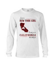 NEW YORK GIRL LIVING IN CALIFORNIA WORLD Long Sleeve Tee thumbnail
