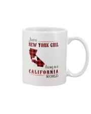NEW YORK GIRL LIVING IN CALIFORNIA WORLD Mug thumbnail
