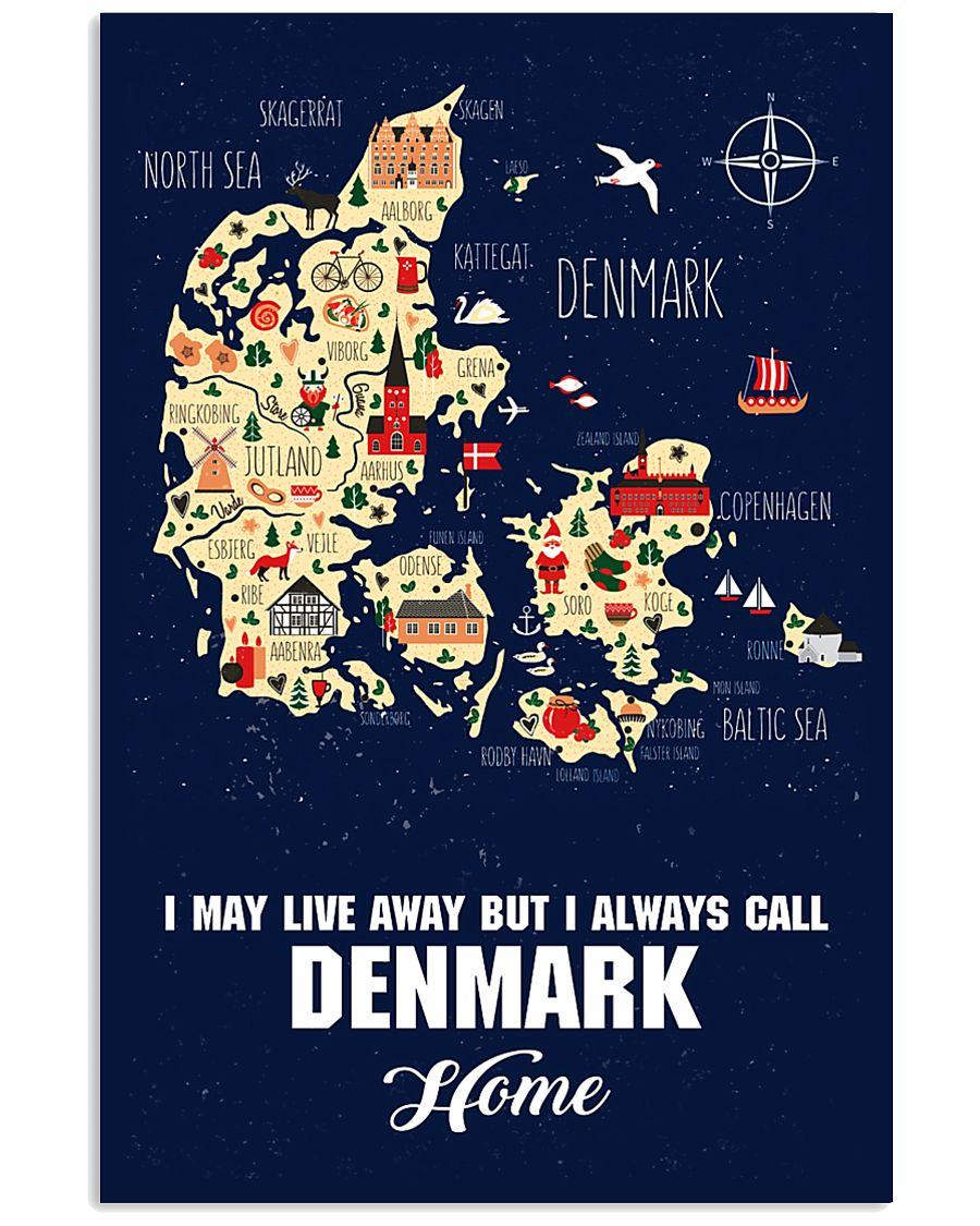 I ALWAYS CALL DENMARK HOME 11x17 Poster