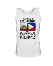 LIVE IN CALIFORNIA BEGAN IN PHILIPPINES Unisex Tank thumbnail