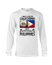 LIVE IN CALIFORNIA BEGAN IN PHILIPPINES Long Sleeve Tee thumbnail