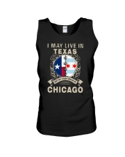 I MAY LIVE IN TEXAS BUT MY STORY IN CHICAGO Unisex Tank thumbnail