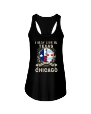 I MAY LIVE IN TEXAS BUT MY STORY IN CHICAGO Ladies Flowy Tank thumbnail