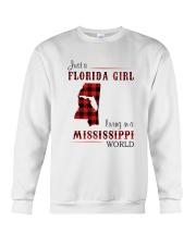 FLORIDA GIRL LIVING IN MISSISSIPPI WORLD Crewneck Sweatshirt thumbnail