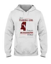 FLORIDA GIRL LIVING IN MISSISSIPPI WORLD Hooded Sweatshirt thumbnail
