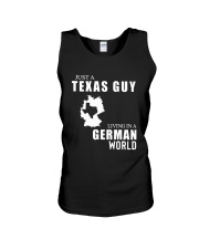 JUST A TEXAS GUY LIVING IN GERMAN WORLD Unisex Tank thumbnail