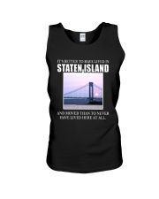 IT'S BETTER TO HAVE LIVED IN STATEN ISLAND Unisex Tank thumbnail