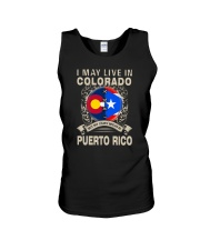 LIVE IN COLORADO MY STORY IN PUERTO RICO Unisex Tank thumbnail