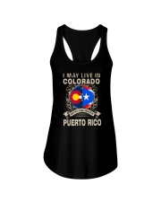 LIVE IN COLORADO MY STORY IN PUERTO RICO Ladies Flowy Tank thumbnail