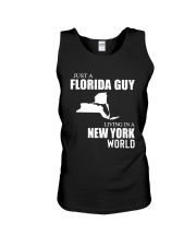 JUST A FLORIDA GUY LIVING IN NEW YORK WORLD Unisex Tank thumbnail