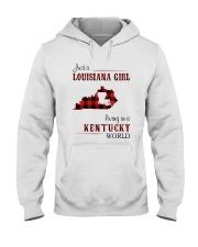 LOUISIANA GIRL LIVING IN KENTUCKY WORLD Hooded Sweatshirt thumbnail