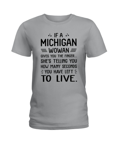MICHIGAN WOMAN TELLING YOU HOW MANY SECONDS