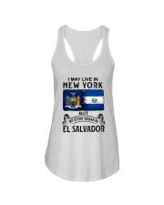 LIVE IN NEW YORK BEGAN IN EL SALVADOR Ladies Flowy Tank thumbnail