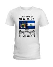 LIVE IN NEW YORK BEGAN IN EL SALVADOR Ladies T-Shirt thumbnail