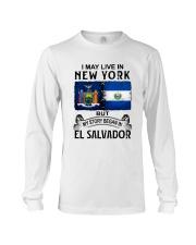LIVE IN NEW YORK BEGAN IN EL SALVADOR Long Sleeve Tee thumbnail