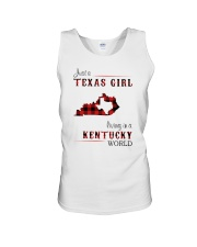 TEXAS GIRL LIVING IN KENTUCKY WORLD Unisex Tank thumbnail