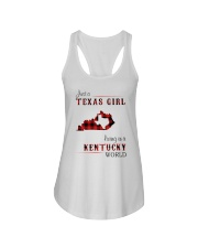 TEXAS GIRL LIVING IN KENTUCKY WORLD Ladies Flowy Tank thumbnail